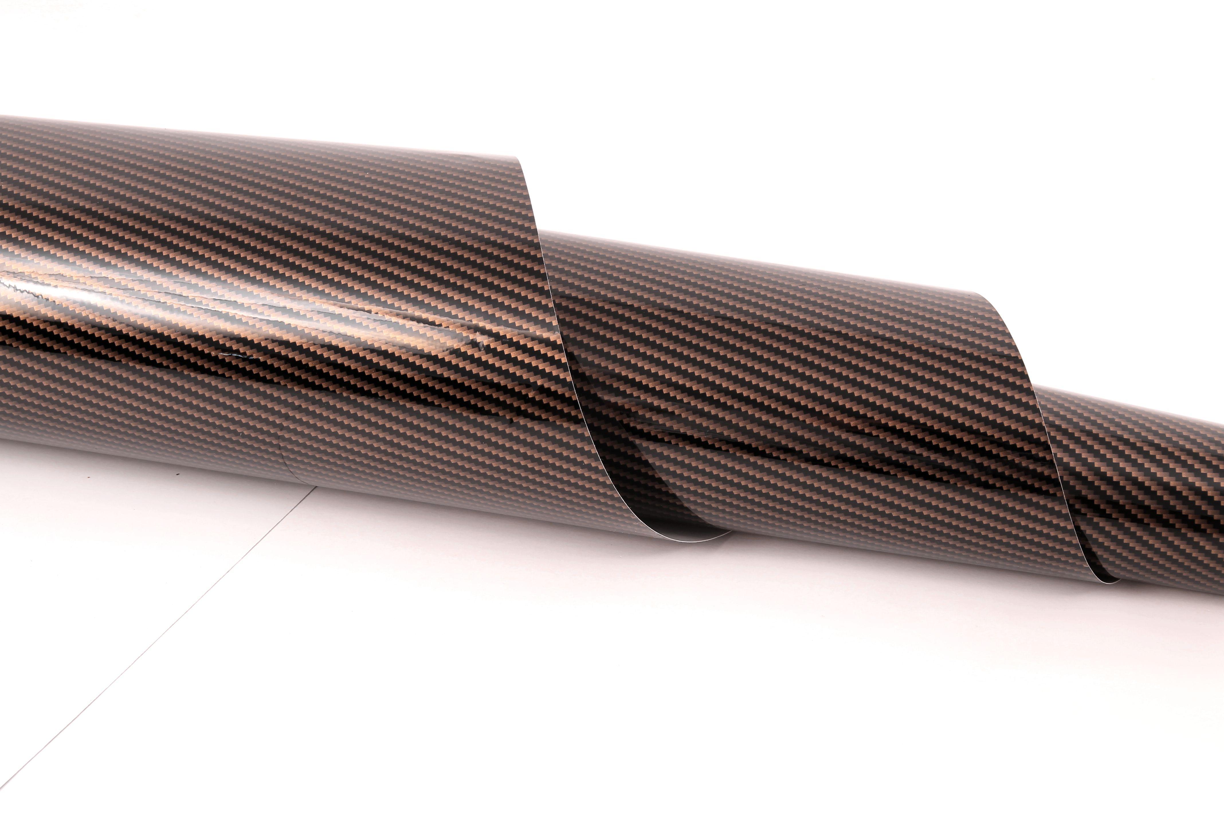 glossy carbon folie gold schwarz zur verklebung car wrapping. Black Bedroom Furniture Sets. Home Design Ideas