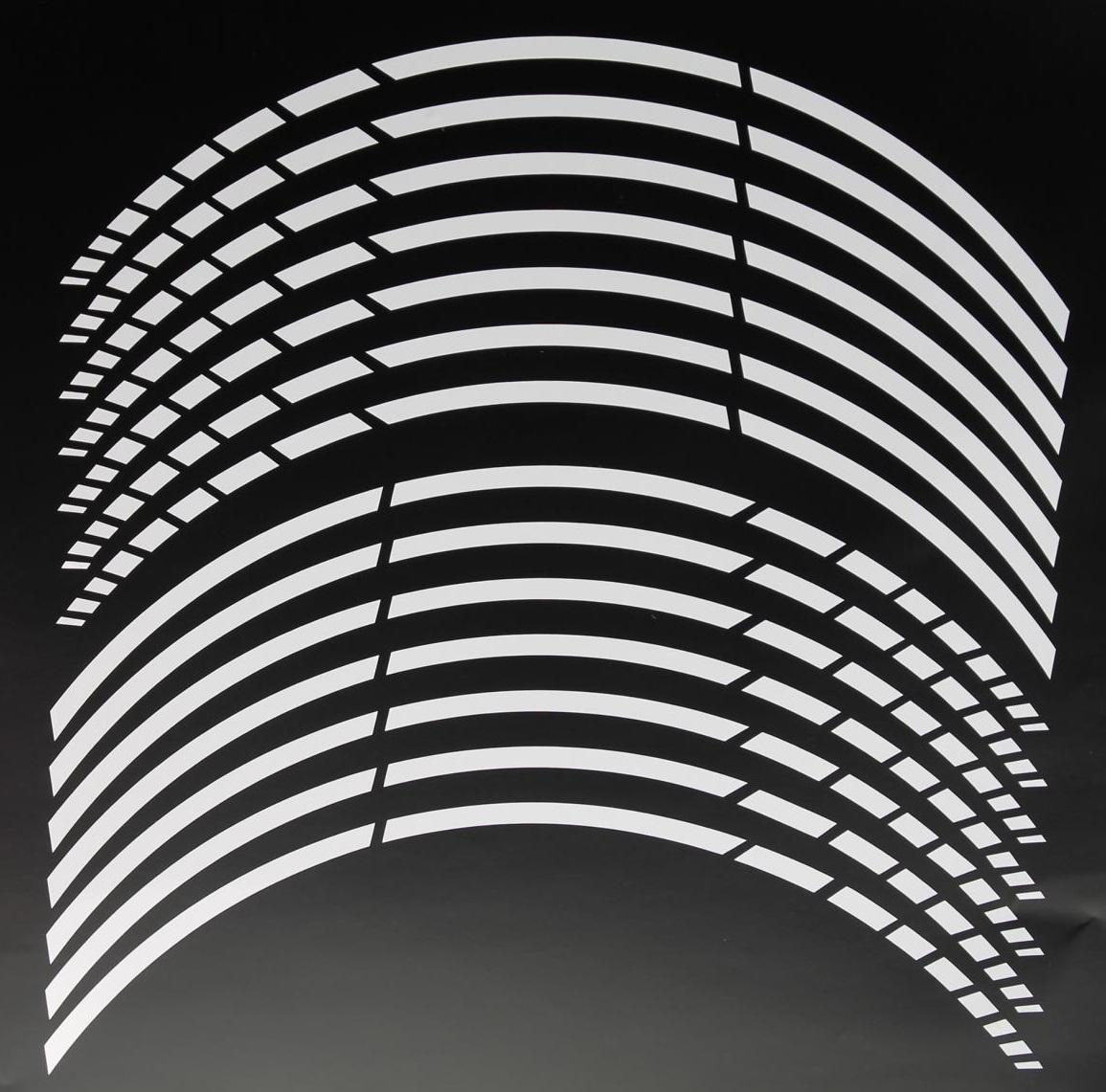 gp 20 felgenaufkleber in der farbe carbon white. Black Bedroom Furniture Sets. Home Design Ideas